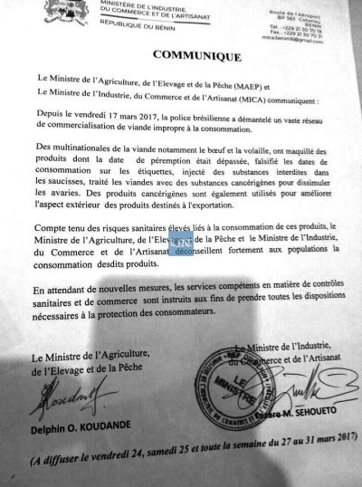 communique sehoueto 400x538 - Lazare Sèhoueto koudande