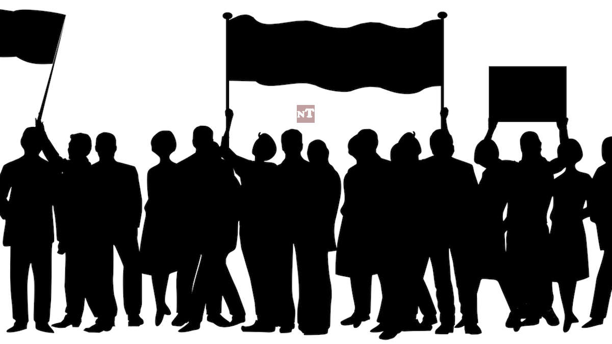 Parakou : Les agents du CHD Borgou Alibori en sit in