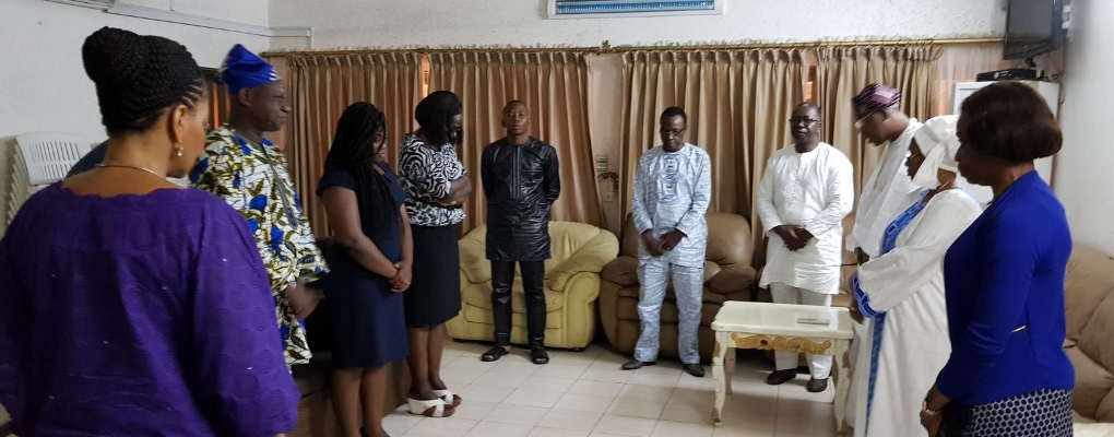 Bénin : La famille du Professeur Géro Amoussouga chez Yayi Boni