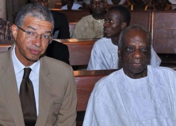 L'ancien ministre Lionel zinsou et son père - Photo archives : DR