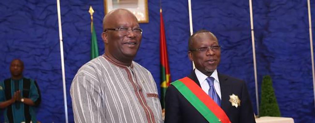 Au Burkina Faso, Patrice Talon élevé à la dignité de Grand-Croix de l'ordre national
