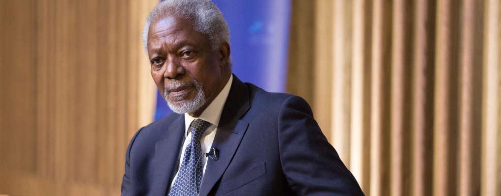 Immigration, terrorisme et changement climatique : les mises en garde de Kofi Annan