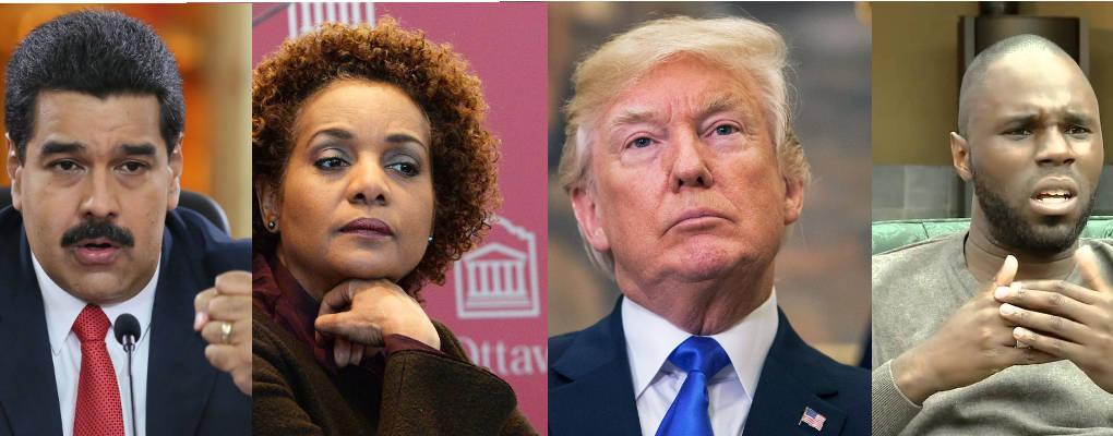 Pays de merde : les réactions aux propos de Trump (Afrique, Venezuela, Michaëlle Jean, Kemi Seba)