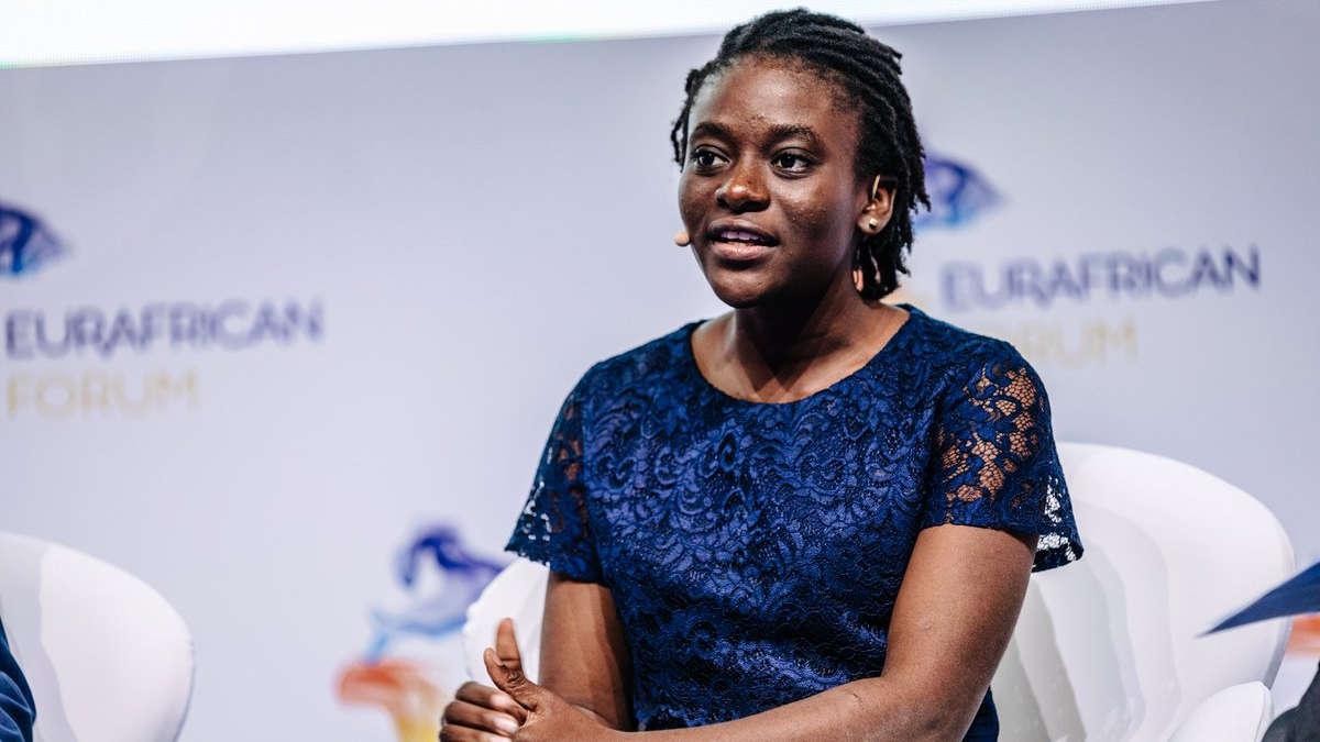 Dr Vèna Arielle Ahouansou. CEO de Kea Medicals. Photo Twitter @EurafricanF