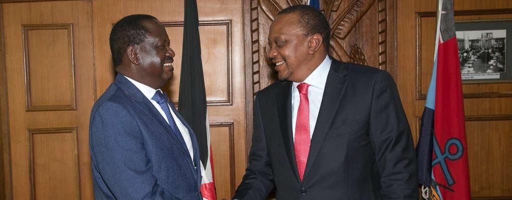 Rencontre entre Kenyatta et Raila Odinga au Kenya :  la paix des braves ?