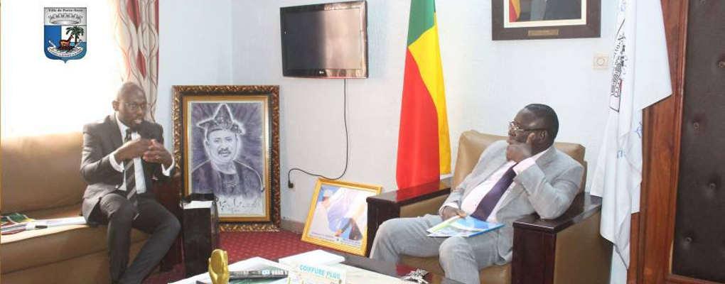Mairie de Porto-Novo : Aziz Adjakpè reçu par le maire Emmanuel Zossou