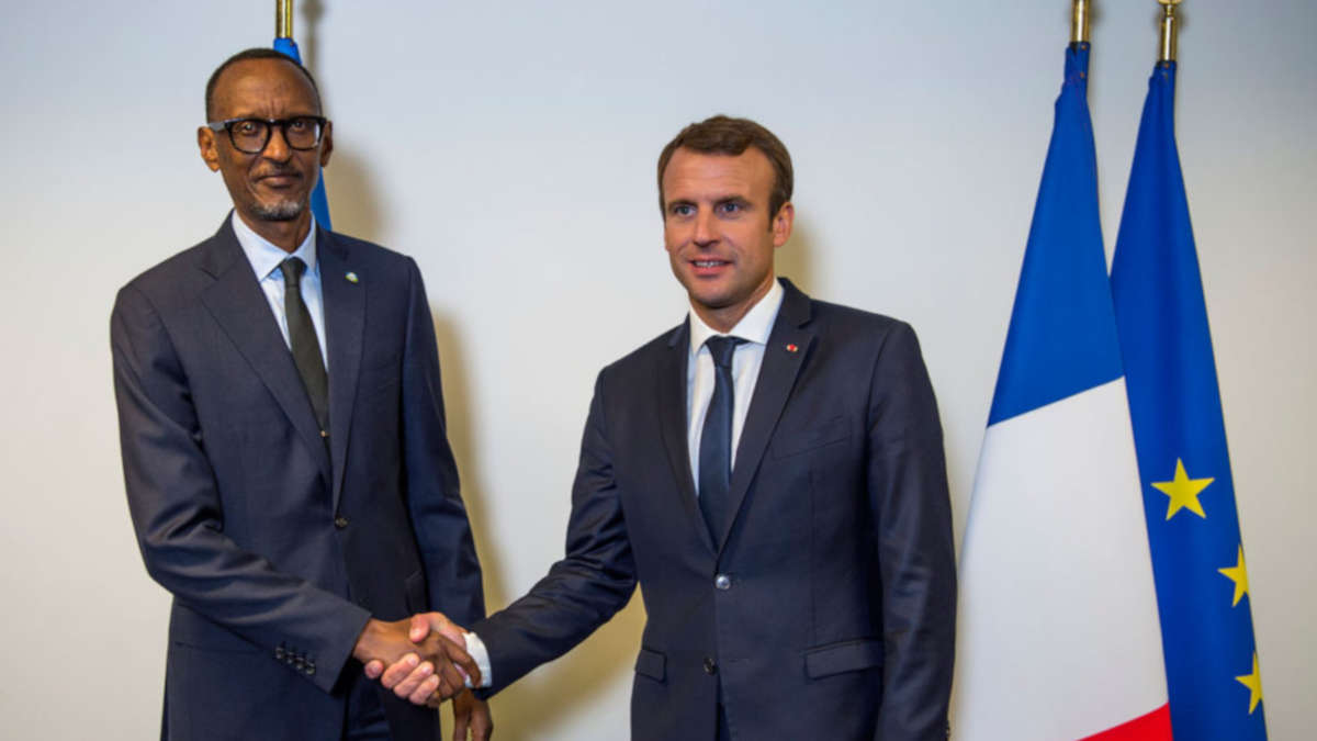 Paul Kagame et Emmanuel Macron (Photo DR)