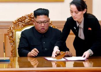Kim Jong-Un et Kim Yo Yong (Photo Pyongyang Press Corps Pool via AP, File)