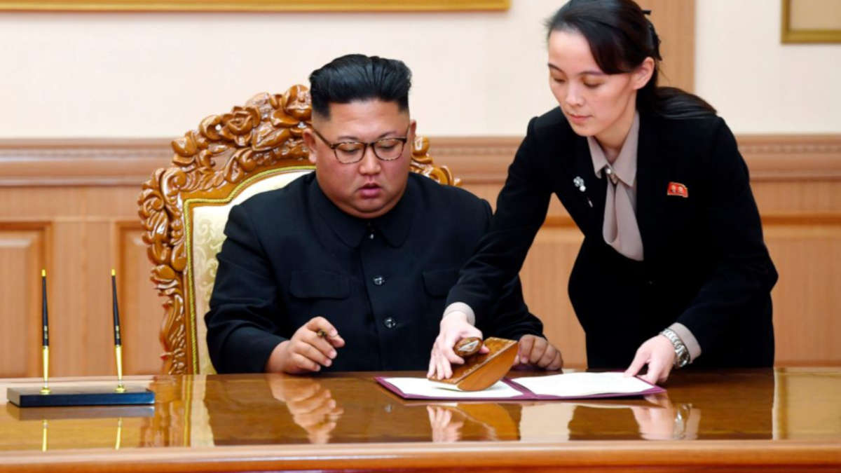 Kim Jong-Un et Kim Yo Yong (Photo Pyongyang Press Corps Pool via AP, File)