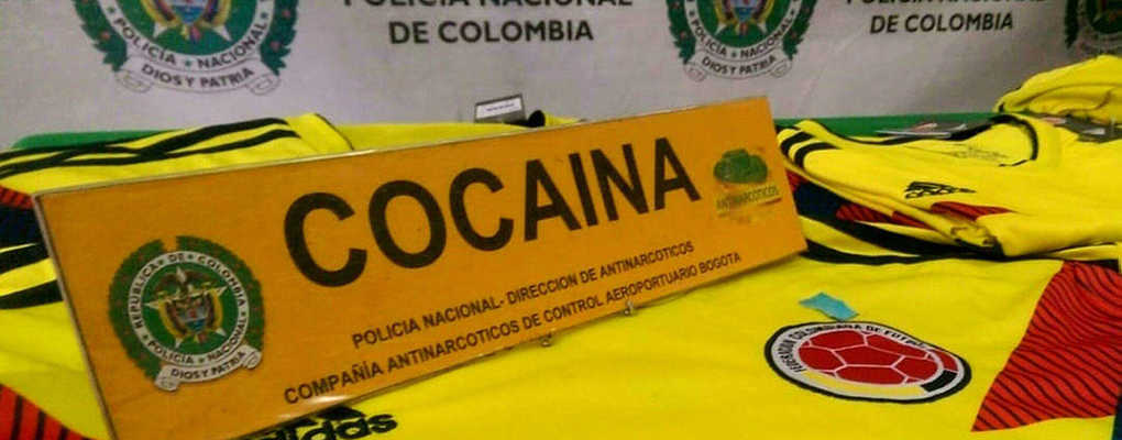 Coupe du monde : des maillots de la Colombie remplis de drogue interceptés à Bogota