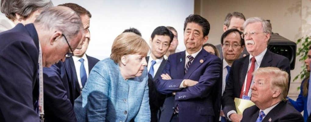 Sommet du G7 : le geste hallucinant de Donald Trump envers Angela Merkel