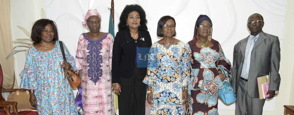 Bénin : Marie-Elise Gbèdo, à la tête des femmes juristes reçue par Cécile Marie-José de Dravo
