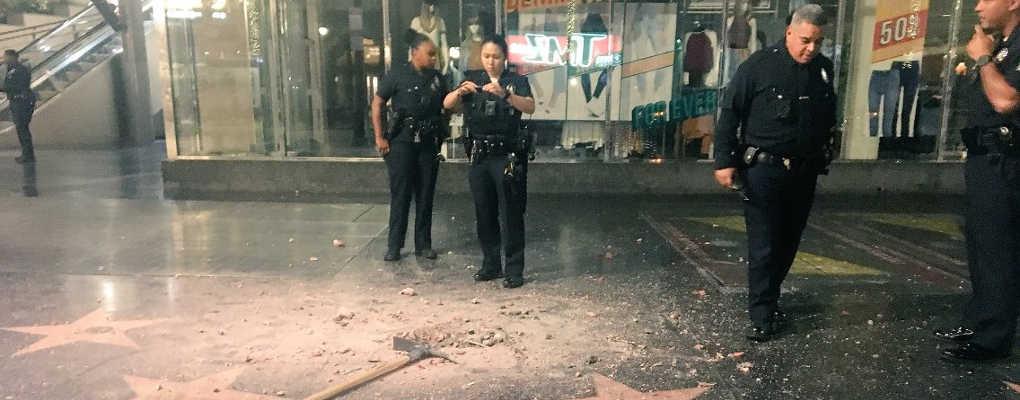 Usa : Un vandale détruit l'étoile rose de Trump sur Hollywood Boulevard