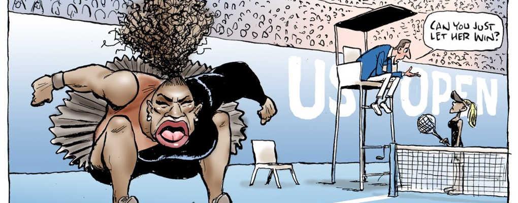 Une caricature de Serena Williams et la métisse Osaka en blonde crée la polémique