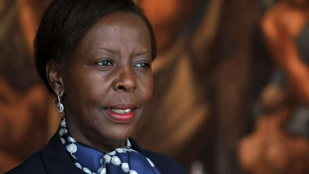 Louise Mushikiwabo. Ph : LUDOVIC MARIN / AFP