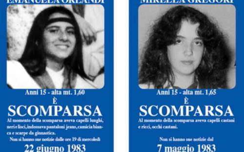 deux mineures disparues séparément à Rome il y a 35 ans. Photo : DR