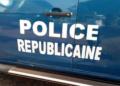 Un véhicule de la police républicaine