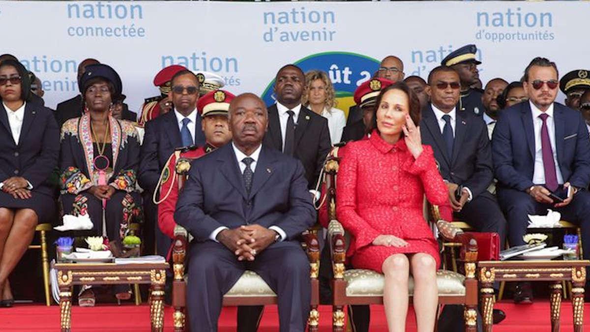 Ali Bongo et son épouse - Ph : afp.com/Steve JORDA