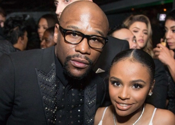 Floyd Mayweather (et sa fille Iyanna) Photo The Blast