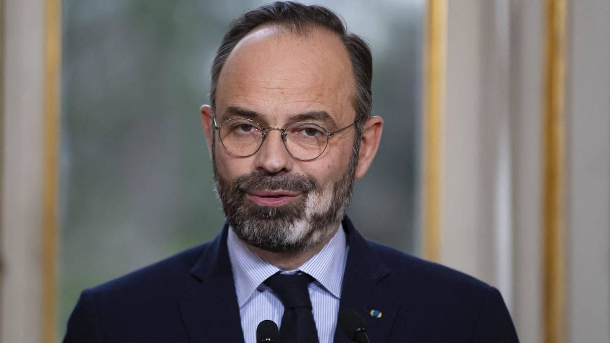 Edouard Philippe (Photo de Thomas SAMSON / POOL / AFP)