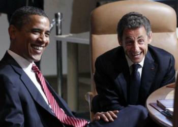 Barack Obama et Nicolas Sarkozy (Photo de Larry Downing / Reuters)