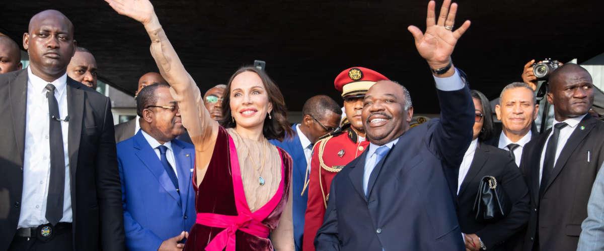 Ali et son épouse Sylvia Bongo, à son retour au Gabon
