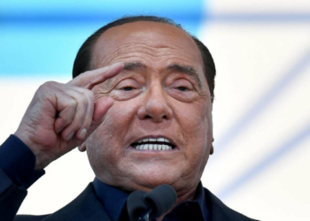 Sylvio Berlusconi (Photo by Tiziana FABI / AFP)