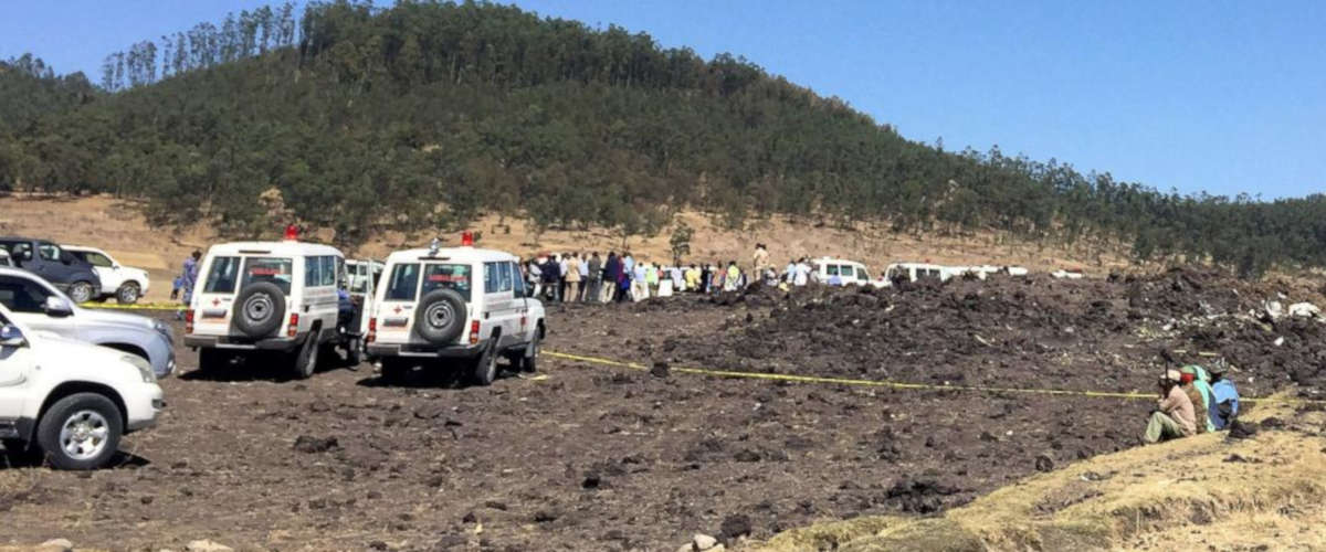 Le site du crash d'un avion d'Ethiopian Airlines (TIKSA NEGERI / REUTERS)