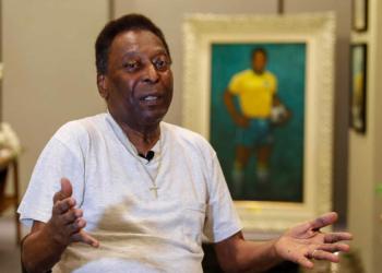 La légende du football Pelé, en 2019. photo : Sebastiao Moreira/EFE/SIPA