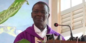 Victor Agbanou, président de la Conférence épiscopale. Ph : Sikka tv