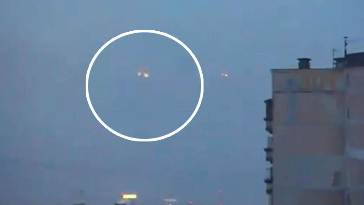 Image tirée d'une vidéo d'un objet volant non identifiée filmé par un pilote de l'US Navy. DR
