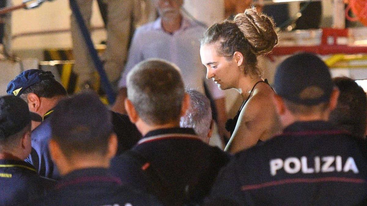 Carola Rackete est arrêtée - REUTERS