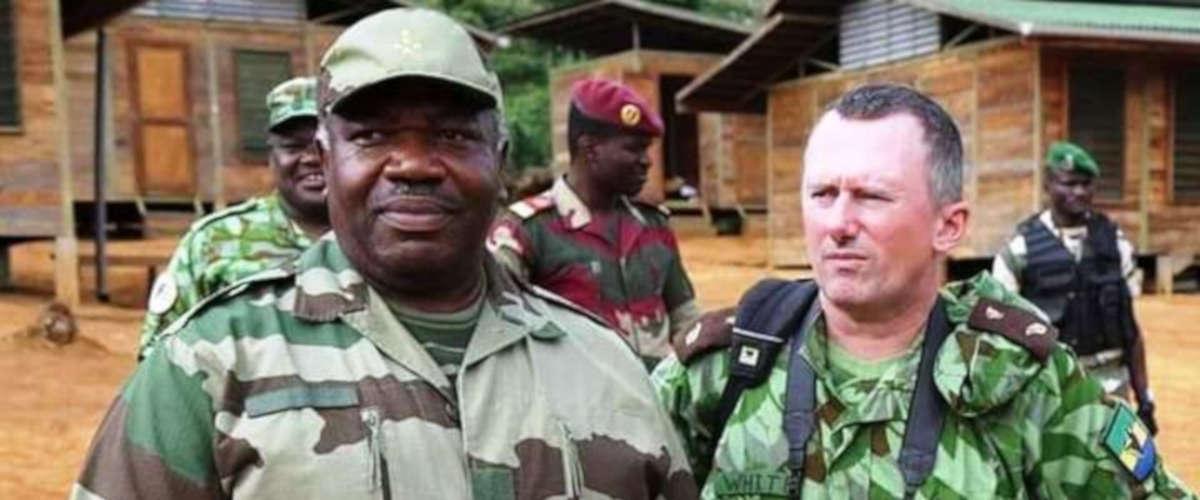 Ali Bongo et le nouveau ministre des forêt Lee White