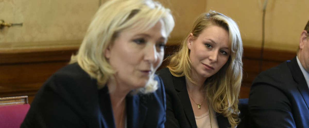 Marine Le Pen et Marion Maréchal-Le Pen - Dominique Faget - AFP