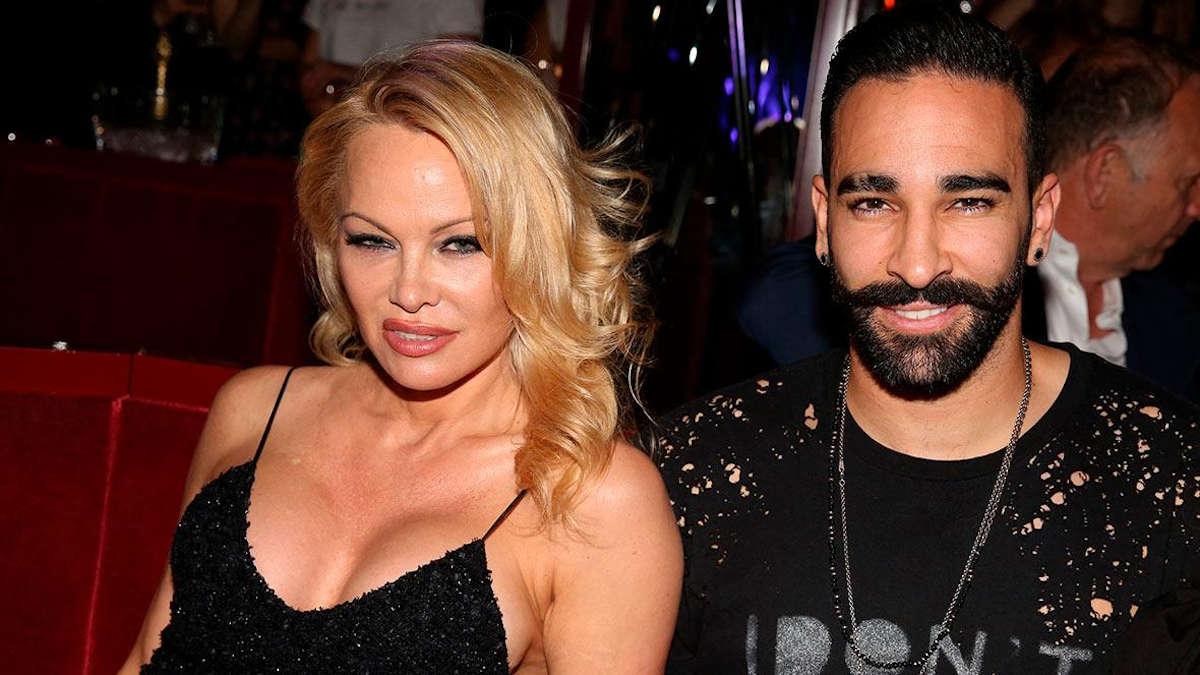 Adil Rami et Pamela Anderson © Isopix