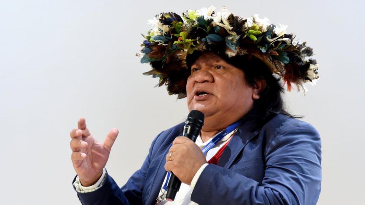 Almir Narayamoga Surui. ERIC PIERMONT / AFP