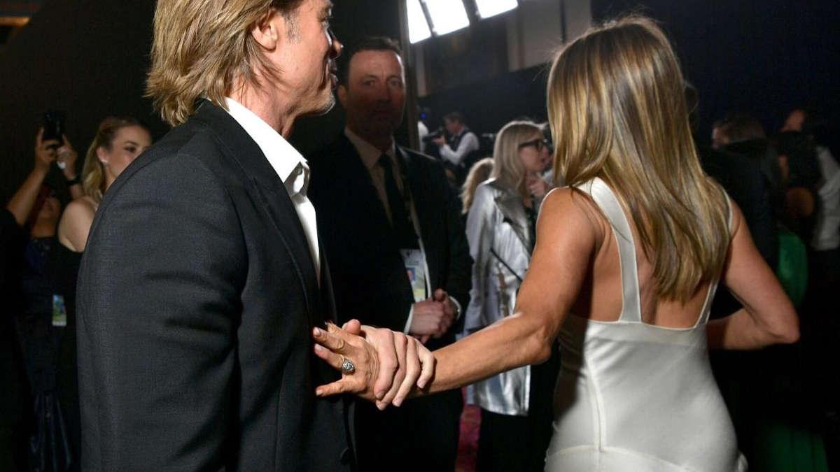 Brad Pitt et Jennifer Aniston aux SAG Awards. (Los Angeles, le 19 janvier 2020)