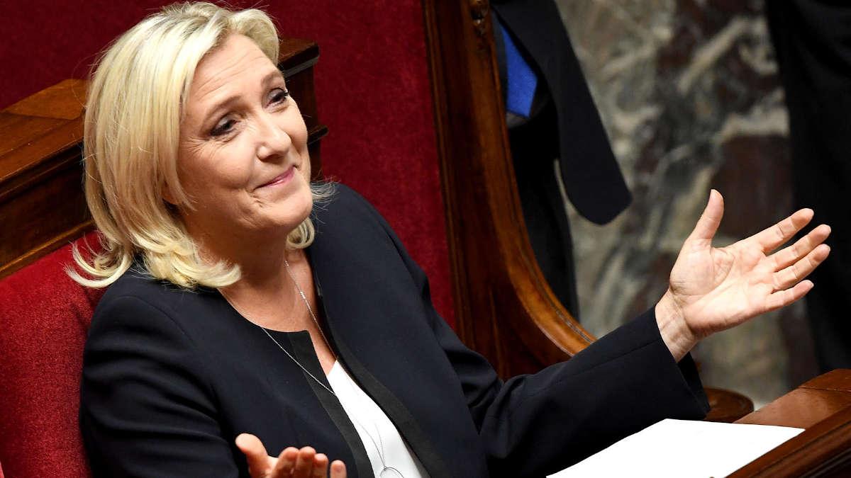 Marine Le Pen à l'Assemblée nationale.