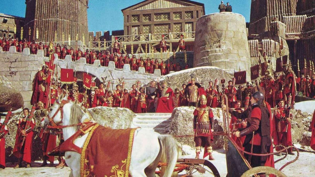 Représentation de soldats de l'empire romain (Film : la Chute de l'Empire romain)
