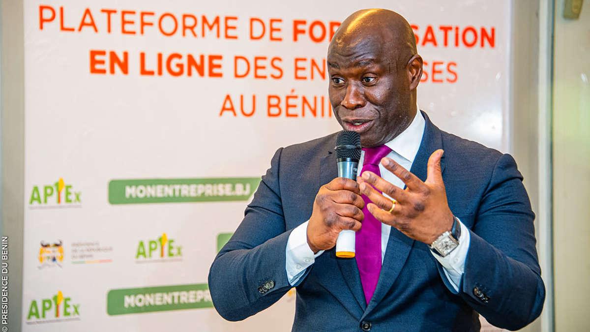 Laurent Gangbes, Directeur Général de l'Apiex / Photo : Presidence benin