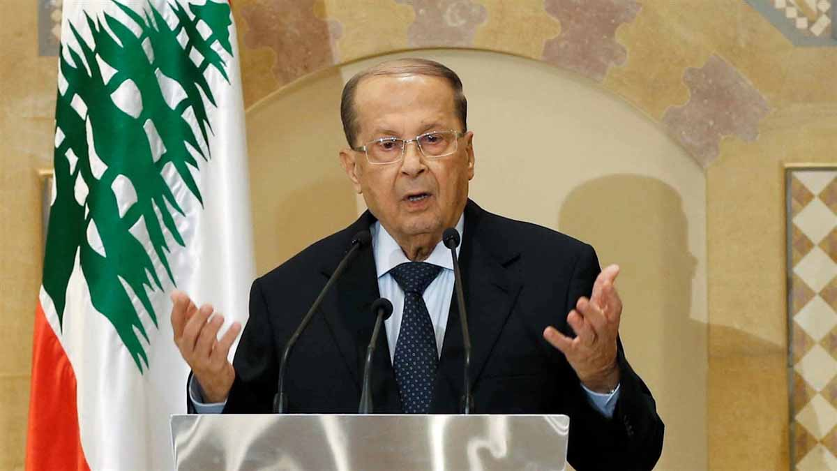 Michel Aoun (président du Liban) Photo de MOHAMED AZAKIR / REUTERS