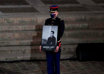 Hommage à Samuel Paty (Photo AFP)