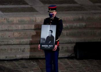 Hommage à Samuel Paty (Photo AFP)