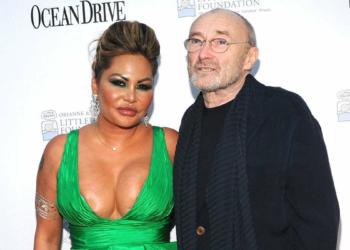 Phil Collins et son ex (Getty Images)