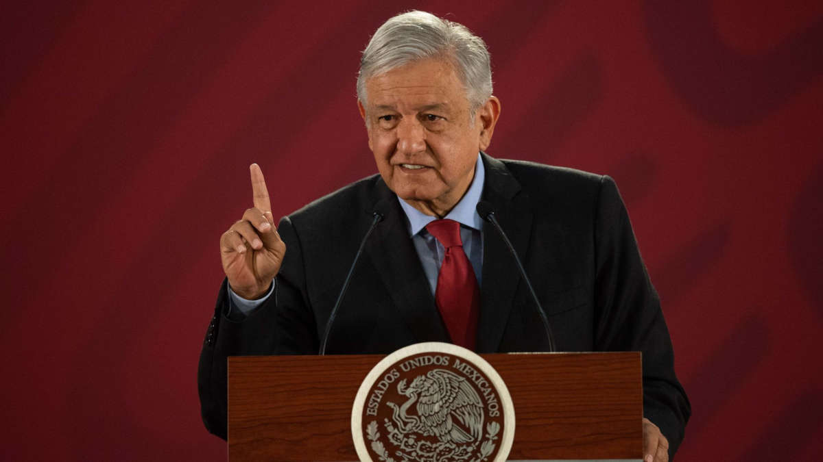 Andrés Manuel López Obrador, Président du Mexique (Photo de Pedro Pardo/AFP/Getty Images)