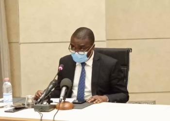 Laurent HOUNSA, Directeur Général de l'INSAE. Photo Twitter @gouvbenin