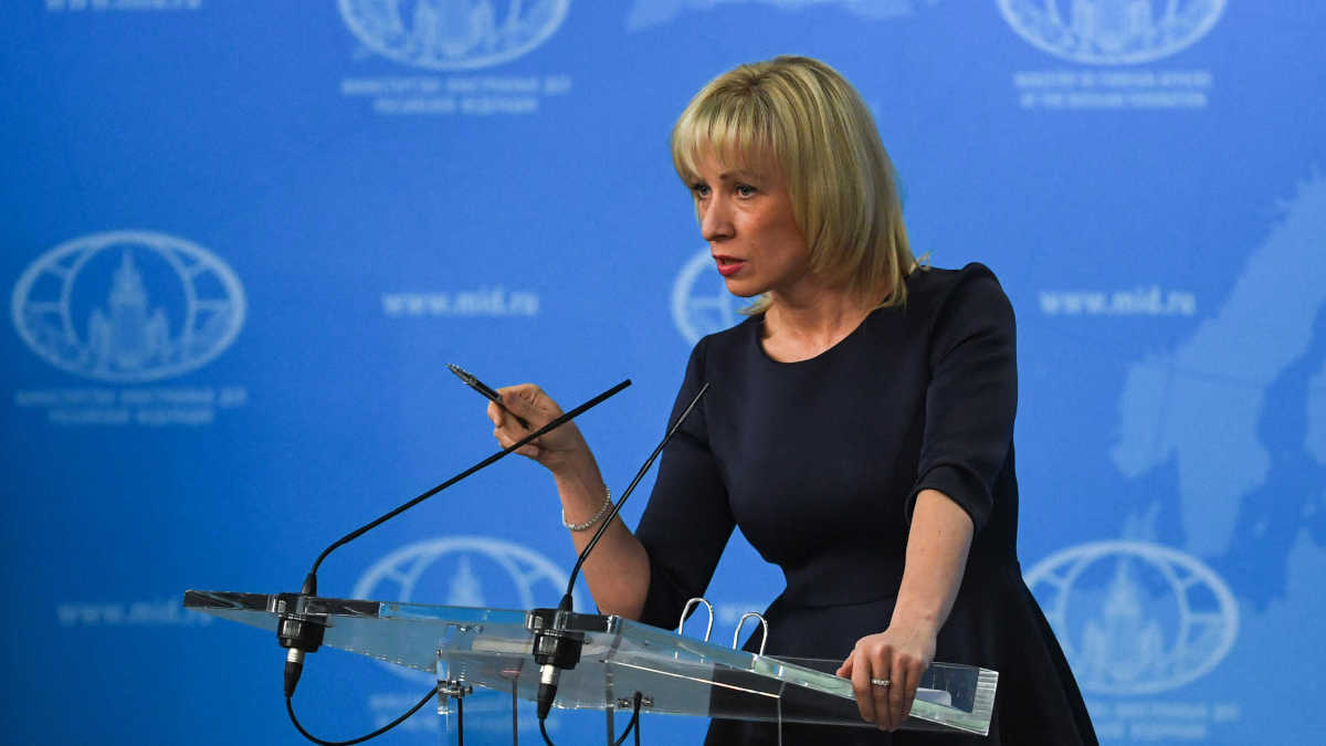 Maria Zakharova.  / AFP PHOTO / Yuri KADOBNOV