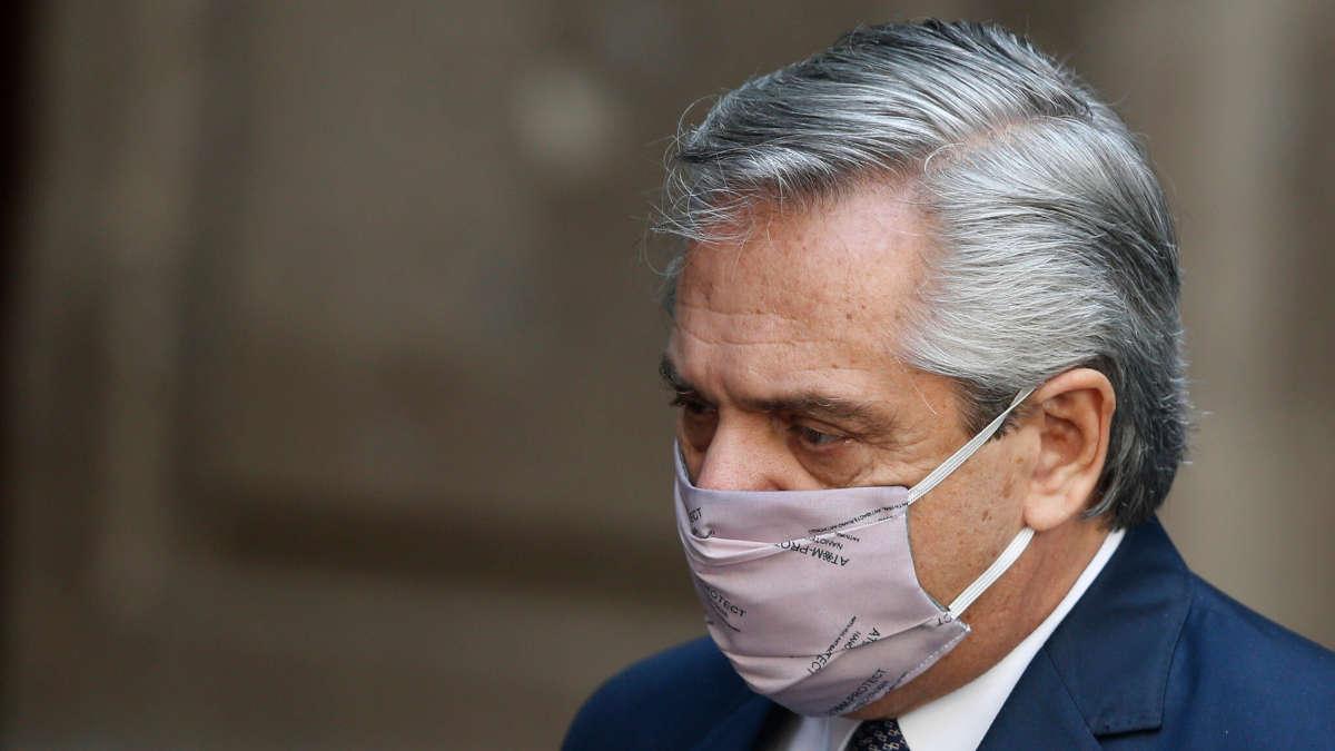 Le Président argentin Alberto Fernandez. (AP Photo/Marco Ugarte)