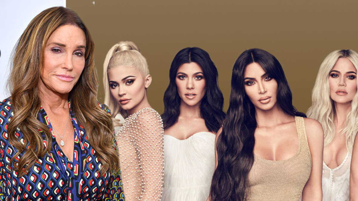 Caitlyn Jenner avec Kylie Jenner, Kourtney Kardashian, Kim Kardashian et Khloe KardashianGetty Images; E! Divertissement