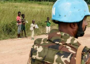 Un membre de la Minusca en Centrafrique. Photo : AFP